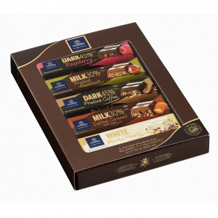 COFFRET 5 BARRES CHOCOLATEES 250g net