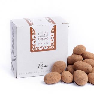 Fève de cacao EN ROBE de chocolat cru