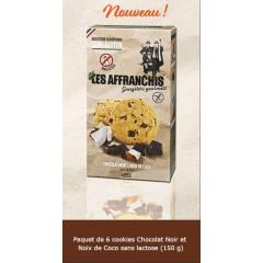 Cookies chocolat noir/noix de coco SANS LAIT