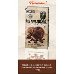 Cookies tout cacao/chocolat noir du Pérou Pure Origine