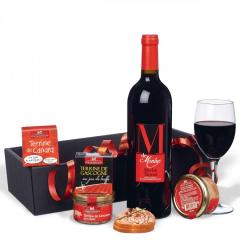 Cadeau gourmand En rouge et noir