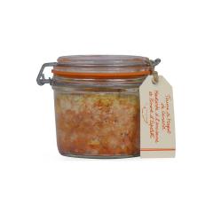 Terrine de magret de canard, moutarde à l'ancienne et piment d'Espelette