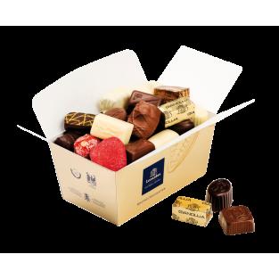 Carton de 12 ballotins de 1 Kg net de Chocolats LEONIDAS