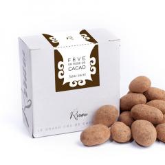 Fève de cacao EN ROBE de chocolat cru SANS SUCRE