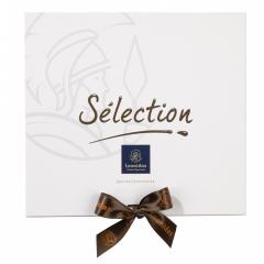 Ecrin gamme Sélection L garni de 600 g de chocolats Leonidas