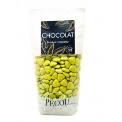Mini Cœurs Vert Tilleul 250g PECOU
